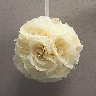 Pomander Flower Balls Wedding Centerpiece, 6-inch, Ivory