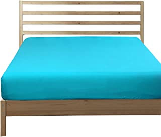 NTBAY Fitted Sheet King Blue Brushed Microfiber Deep Pocket Sheet Wrinkle, Fade, Stain Resistant