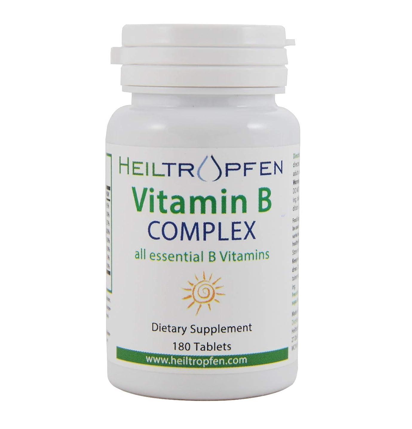 道徳の乱気流呼び起こすビタミンBコンプレックス、180錠、 Vitamin B Complex, 180 Tablets, heiltropfen