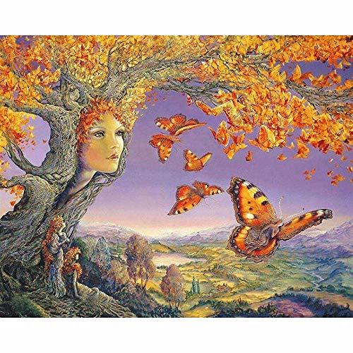 Puzzle 1000 piezas Árbol madre arte mariposa imagen pájaro carpintero regalo puzzle 1000 piezas animales Rompecabezas de juguete de descompresión intelectual educativo diverti50x75cm(20x30inch)
