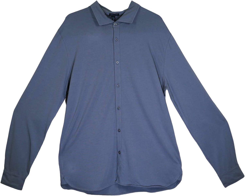 Patrick Assaraf Men's Lightweight Pima Cotton Stretch Shirt Casual Button-Down