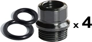 Challis Grips 4 ea Black 1911 Full Size Grip BUSHINGS / 8 ea O Rings | US Made for Colt and Clones | Patented Design Prevents Loose Grip Screws | Hex Drive Makes These Very Easy to Install and Remove