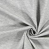 Fabulous Fabrics Jersey perlgrau, Uni, 147cm breit –