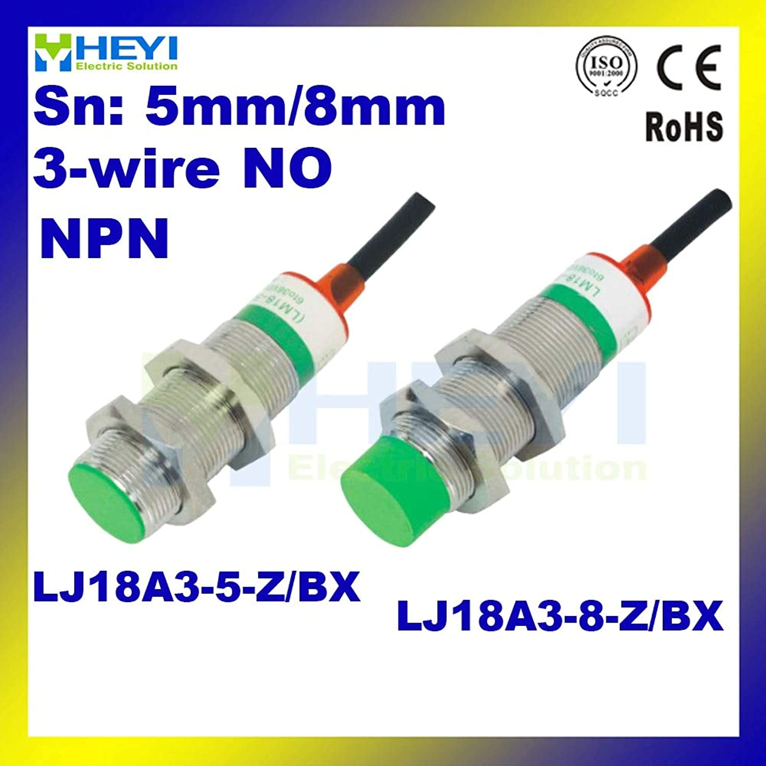 LJ18A3-8-Z BX NPN 3-Wire NO Metal Induction Proximity Sensor DC inductive Proximity Switch