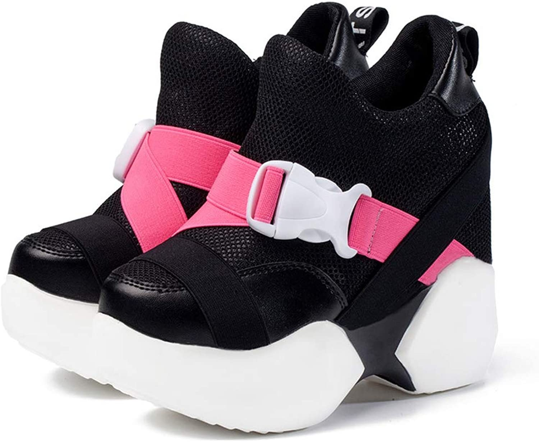Woman Platform Autumn Mesh Breathable Women Casual shoes Wedge Sneakers Women Buckle Slip On Sneakers