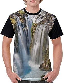 BlountDecor Printed T-Shirt,Boho Botany Foliage Fashion Personality Customization