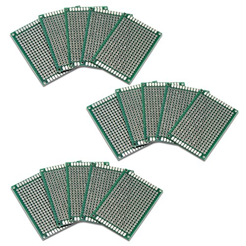 Amazon.de - 15pcs Double Sided Prototype Universal Board for DIY, 4x6cm