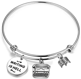 Author Bracelet Writing is Hell Appreciation Jewelry Gift for Writer