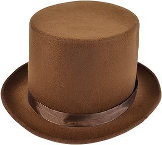 Bristol Novelty BH589 Wool Felt Top Hat, Unisex-Adult, Brown, One Size