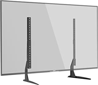 1home Universal Tabletop TV Stand for 22-65 inch LCD LED Plasma Height Adjustable Pedestal Mount Monitor Riser
