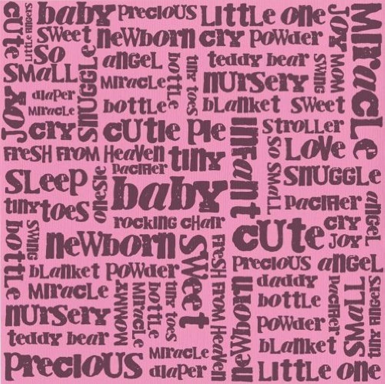 Glazed 12x12 Cardstock 15-Pack: Baby Words Girl Fussy