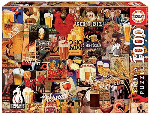 Educa - Collage de Cerveza Vintage Puzzle, 1000 Piezas, Multicolor (17970)
