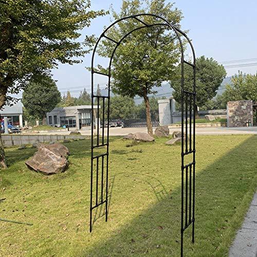 YICO Arche de Jardin en Acier (240cm) Tonnelle de Rose avec Un Design Minimaliste Moderne - pour...