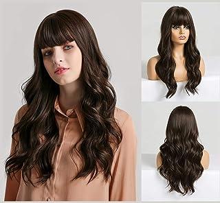 شعر مستعار طويل مموج مقاوم للحرارة للنساء بطول 22 انش