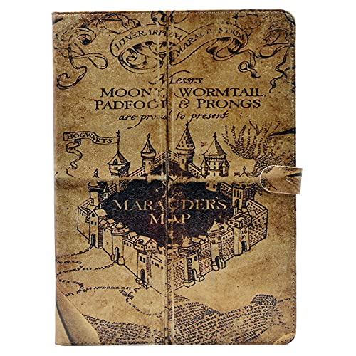 YHB ipad Air 2 CASE Hogwarts Marauder's Map Vintage Retro Pattern Leather Flip Stand Case Cover ipad Air 2 II