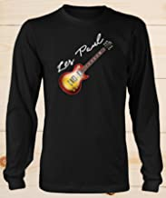 Les Paul Gibson Electric Guitar Long Sleeve T Shirt 50s 60s Classic Jazz Blues Country Tribute Music Gift Unisex T-Shirts For Men and Women