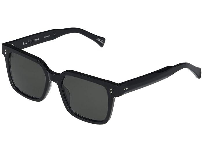 Retro Sunglasses | Vintage Glasses | New Vintage Eyeglasses RAEN Optics West 55 Crystal BlackSmoke Polarized Fashion Sunglasses $185.00 AT vintagedancer.com