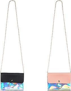 SOTOGO 2 Pieces Little Girl Purses Toddler Purse Dazzle Purse Cute Princess Handbags Shoulder Crossbody Bag