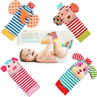 Sponsored Ad - Bloobloomax Sock rattles for babies 0-24 Months Baby Animal Foot Finder Educational Toys