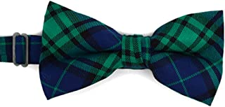 Men`s Hipster Plaid 100% Cotton Flannel Look Banded Pre-Tied Bow Tie