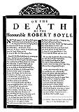 Robert Boyle (1627–1691) Poster mit englischem Chemist