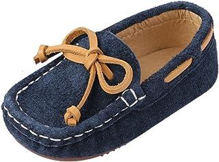 42ed4f74e9a0b9 Chic-Chic Chaussure Bateau Mocassin Enfant Bébé Loisirs Confort Chaussures  Fille Garçon Cuir Suédé Plates