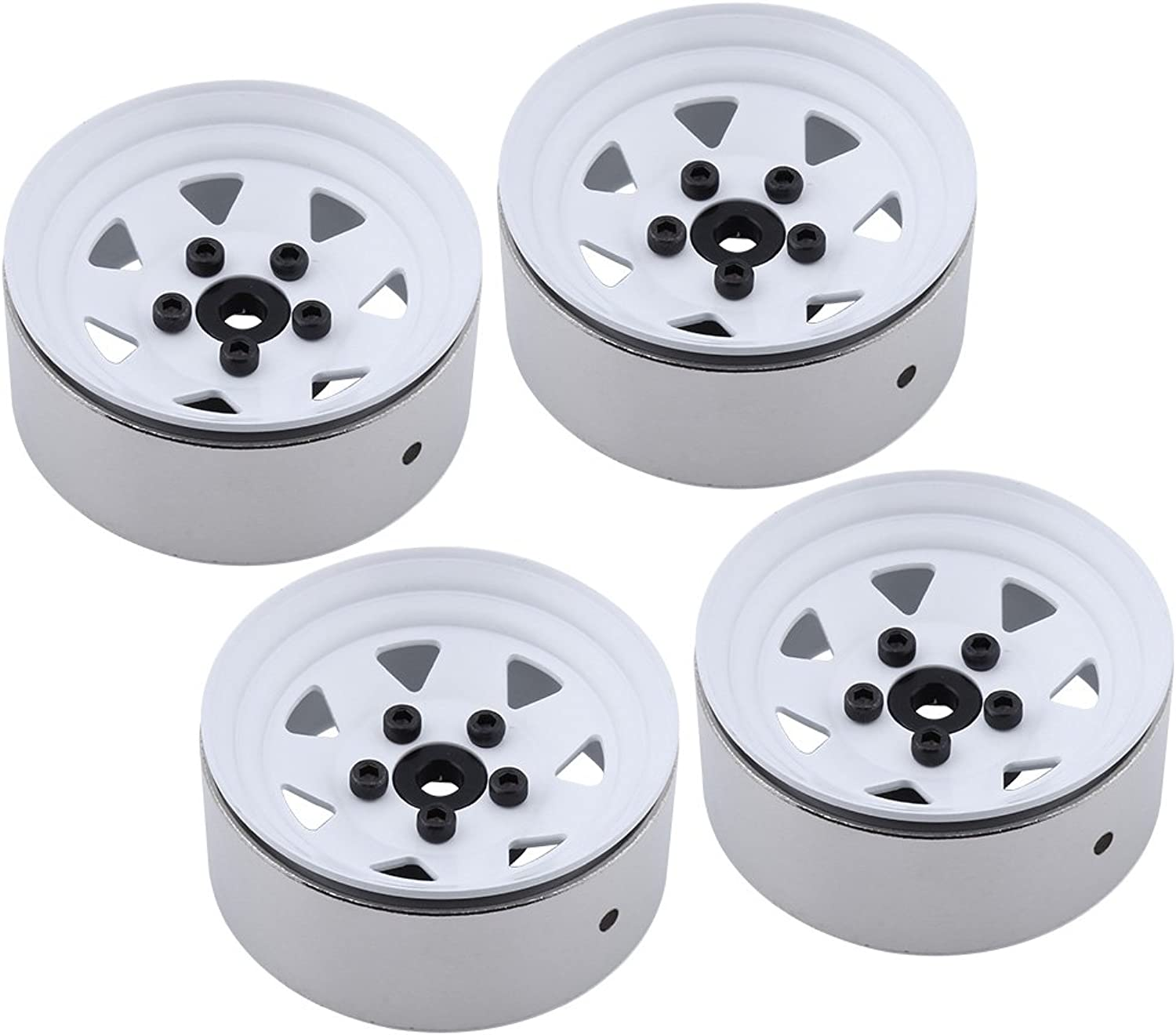 4Pack Heavy Aluminum Alloy RC Rock Crawler 1.9  Beadlock wheels Rim 12mm Hex Hub Width 25mm