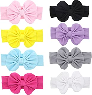 Baby Super Stretchy Nylon Knotted Headbands Baby Head Wraps Baby Headbands Bows (13Q)