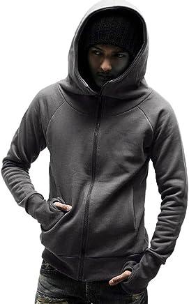67d9e239a1e4d LEvifun Homme Sweat à Capuche Hommes Hooded Grande Taille Manches Longues  Solide Veste Manteau Sweatshirt Sports