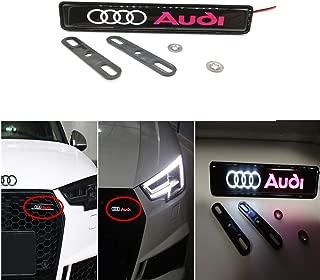 Car Front Grilled Star Emblem LED Illuminated Logo Center Front Badge Lamp Light For Audi Accessories
