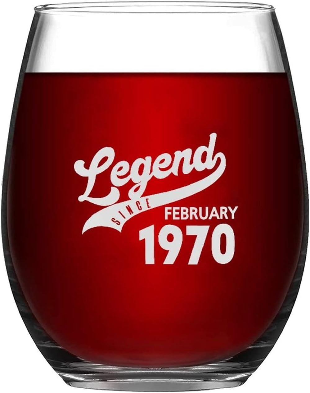 Legend Since February 1970 Novelty Wine Kansas City Mall Mug Presen At the price Evening Glass