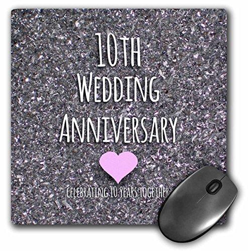3 rozen 20,3 x 20,3 x 0,6 cm. Huwelijksdag geschenk doos bits foto viering 10 jaar samen muismat (MP 154442 1)