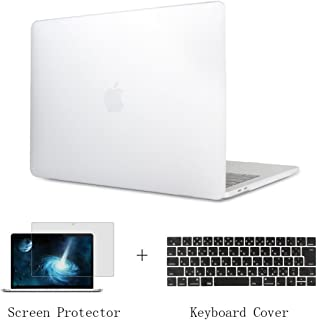 TwoL MacBook Pro 15 2016/2017/2018 ケース 、高品質軽量マットつや消しクリアハードケース 新しい 15インチ MacBook Pro Retina Touch Bar搭載(A1707/A1990) 対応ノートパソコンシェルカバー キーボードカバー (半透明)