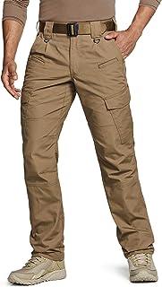 Men's Tactical Pants, Water Repellent Ripstop Cargo Pants, Lightweight EDC Hiking Work Pants, Outdoor Apparel