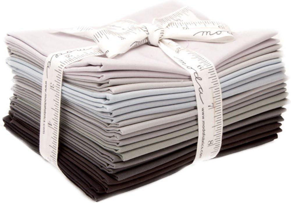 Bella Solids Black 12 Fat Max 61% OFF Quarters 130 Moda 9900AB Fabrics Fort Worth Mall