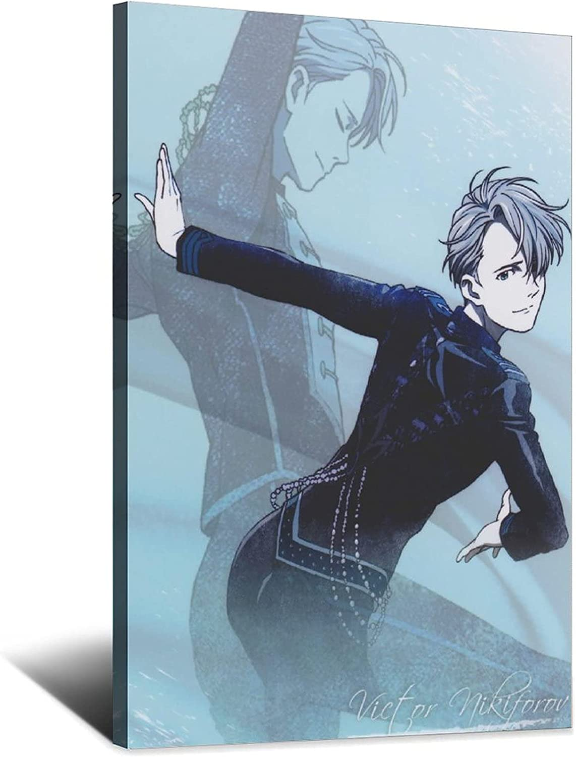 Anime Pin on Overseas parallel import regular item Yuri Ice Poster Spring new work one after another Art Mod Canvas Picture