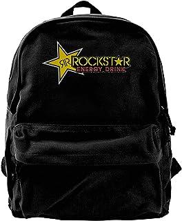 Mochila de lona Rockstar para bebidas energéticas, para gimnasio, senderismo, portátil, bolsa de hombro para hombres y muj...
