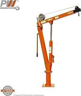 Hydraulic and Winch Davit Crane 2,000 lbs. 360 Degrees Swivel