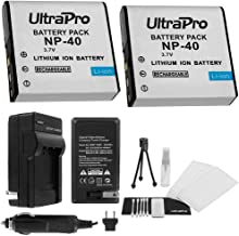 NP-40 Battery 2-Pack Bundle with Rapid Travel Charger and UltraPro Accessory Kit for Select Casio Cameras Including EX-Z850, EX-Z1000, EX-Z1050, EX-Z1080, and EX-Z1200