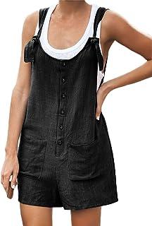 Salopette Tumblr Ragazza Moda Girasole Tuta Estiva Sciolto Manica Corta Pantaloncini Romper Jumpsuit Pagliaccetto Monopezzi Tutine
