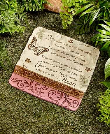 SB Goods I Thought of You Stone Decorative Memorial Stone for Your Yard (Оne Расk)