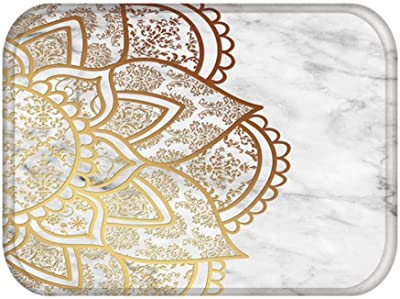 Kitchen Comfort Mat,Living Room Doormats Colorful Marble Pink Mandala Anti-Slip Home Decorative Kitchen Floor Carpet Entrance Mat in Hallway 48232,H,400mm x 600mm,Non Slip Kitchen Floor Mats