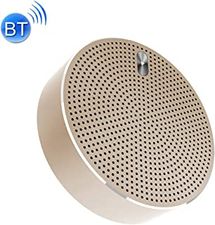 Mini Portable Stereo Speaker Y800 Mini Portable Wireless Bluetooth Speaker Noise Reduction Mic, Support TF Card(Grey) (Color : Gold)