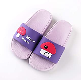 Comfortable/beautiful sandals and slippers Mushroom Parent-Child Slippers (Color : Purple)