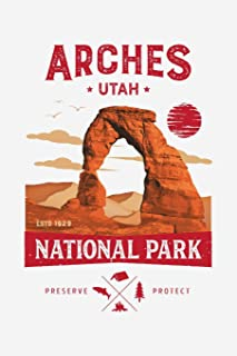 Arches Utah ESTD 1929 National Park Preserve Protect: Arches National Park Lined Notebook, Journal, Organizer, Diary, Composition Notebook, Gifts for National Park Travelers