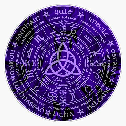 Celtic Pagan Year Wheel Calendar Sticker Vinyl Bumper Sticker Decal Waterproof 5'