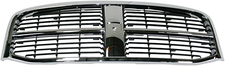 Perfit Liner New Front Chrome Black Grille Grill Replacement For Dodge Ram Pickup Truck 2500 3500 Fits CH1200282 55077767AC