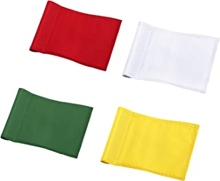 KINGTOP Solid Golf Flags with Tube Inserted, All 8