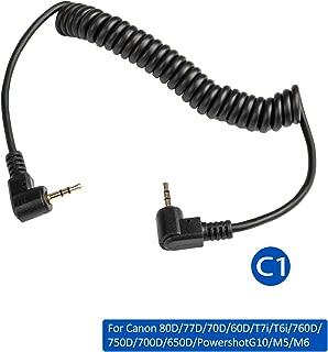 VILTROX Wireless Shutter Release Remote Control Connecting Cable for Canon 80D/77D/70D/60D/T7i/T6i/760D/750D/700D/650D/ PowershotG10/M5/M6