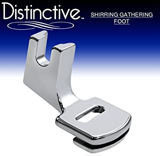 Distinctive Shirring Gathering Sewing Machine Presser Foot - Fits All Low Shank Singer, Brother, Babylock, Euro-Pro, Janome, Kenmore, White, Juki, New Home, Simplicity, Elna and More!